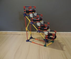 Knex Ball Machine Element: Tire Stairs