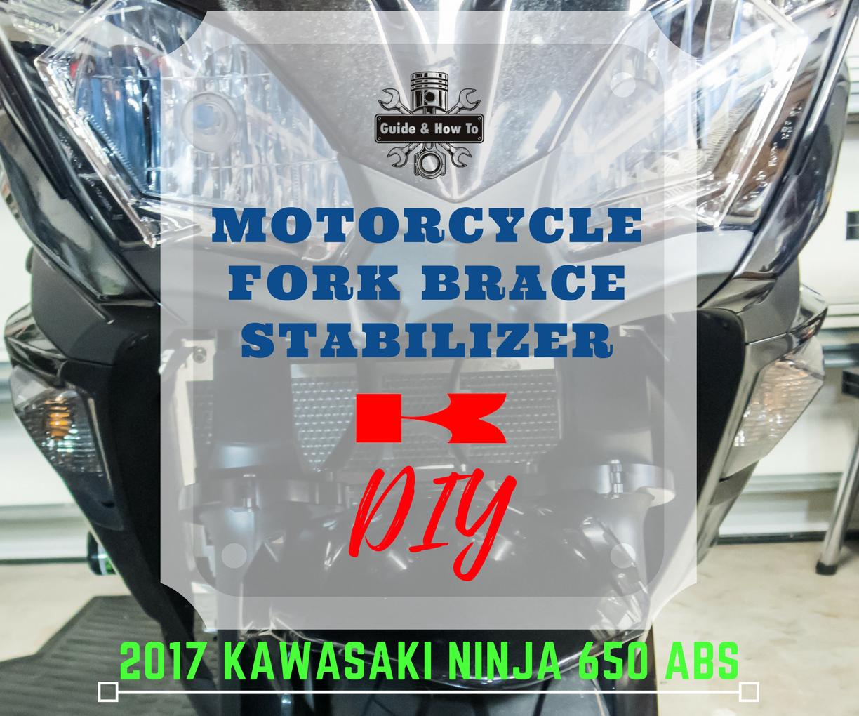Picture of Motorcycle Fork Brace Install - 2017 Ninja 650 / Z650