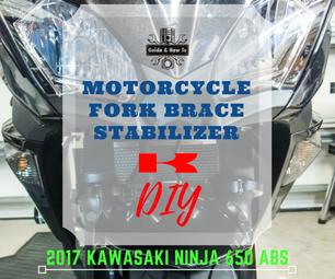 Motorcycle Fork Brace Install - 2017 Ninja 650 / Z650