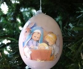Nativity scene egg ornaments