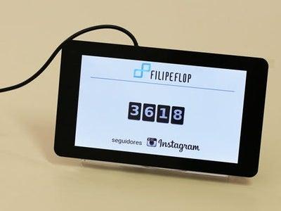 Raspberry Pi Instagram Followers Counter