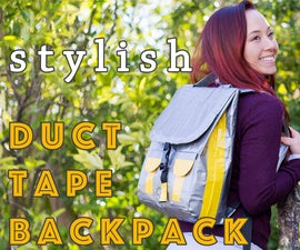Stylish Duct Tape Backpack