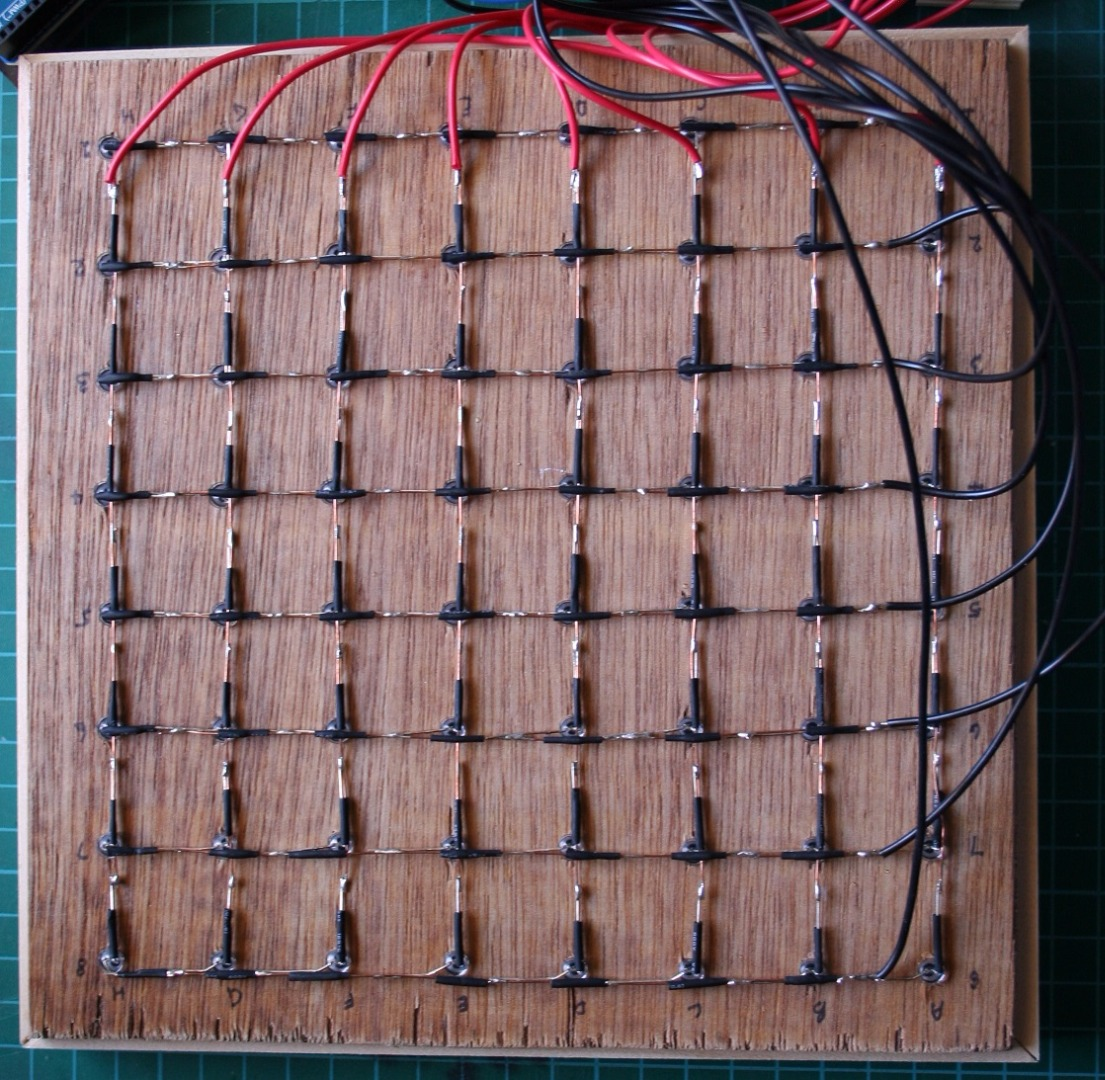 Picture of LED Wiring - Rows and Columns