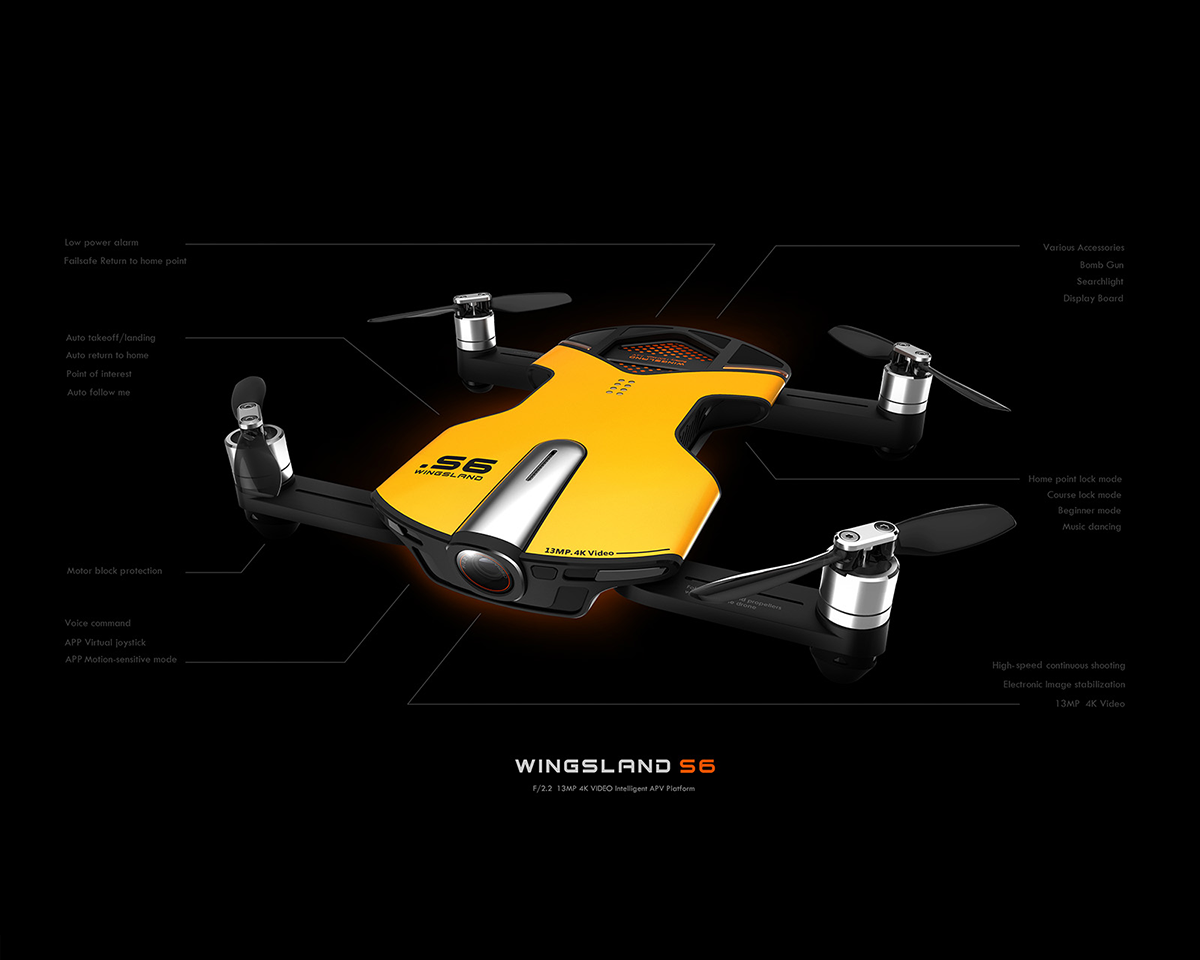 Picture of Wingsland S6 Pocket Drone