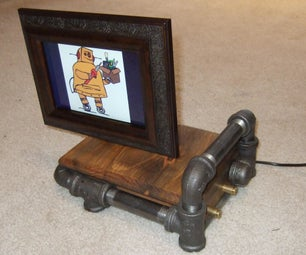 "Steam Punk Digital 8"" Picture Frame"