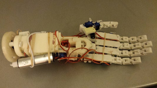 Modular Robotic Hand & Arm (With Extended Range of Motion) (3D Printed)