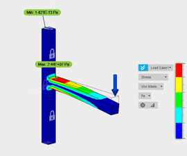 Simulation Study of a Cantilever Beam