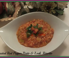 Roasted Red Pepper Risotto