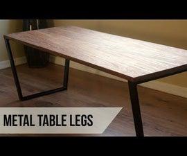 Making Metal Coffee Table Legs