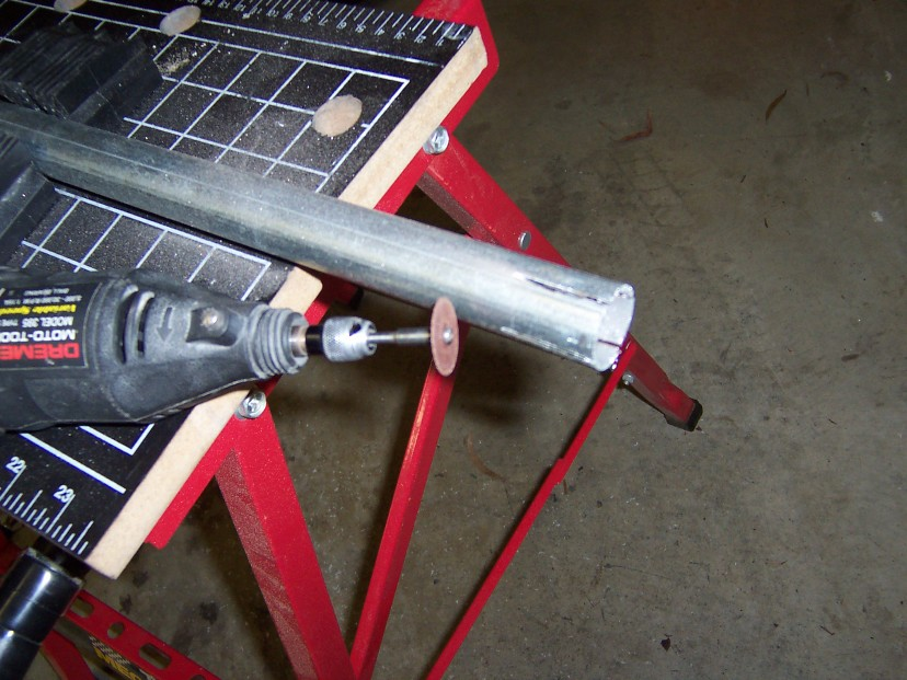 Picture of Fabricating the Mounting Flange