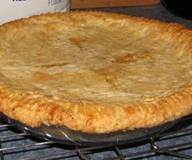 A Healthier Flaky Double Pie Crust w/ Coconut Oil