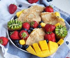 Easy and Healthy Spelt Crepes (4 Ingredients!)