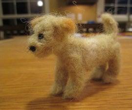 Tiny Needle Felted Dog