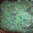 Grandma's HOMEMADE VANILLA CAKE WITH CREAM CHEESE ICING