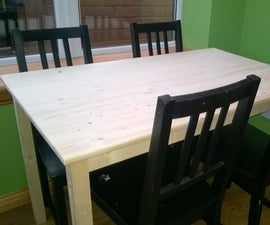 Simple Pine Table