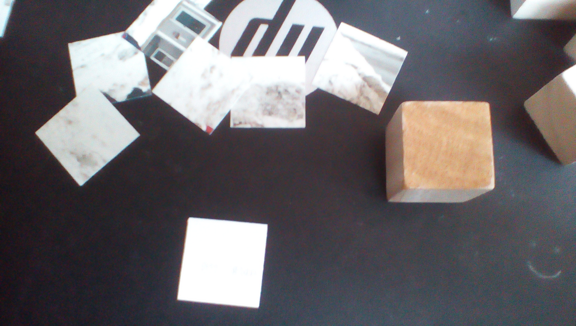 Picture of Gluing the Pieces Onto the Cubes