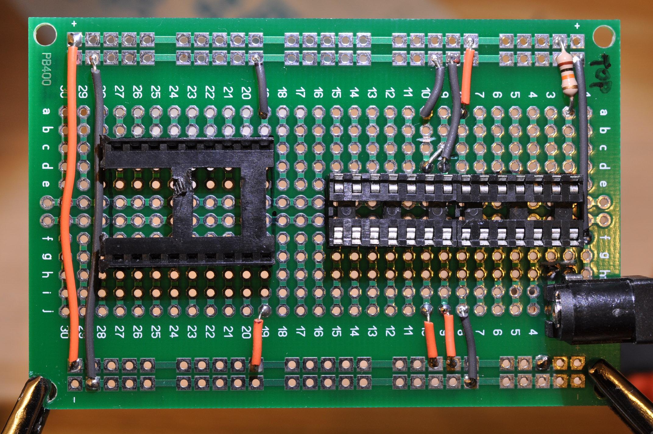 Picture of Solder 10K Pull-Up Reset Resistor