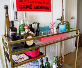 Ikea Hack Bar Cart - Vittsjo