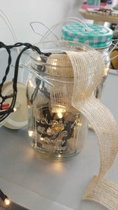 Place the Lights in the Jar With the Burlap