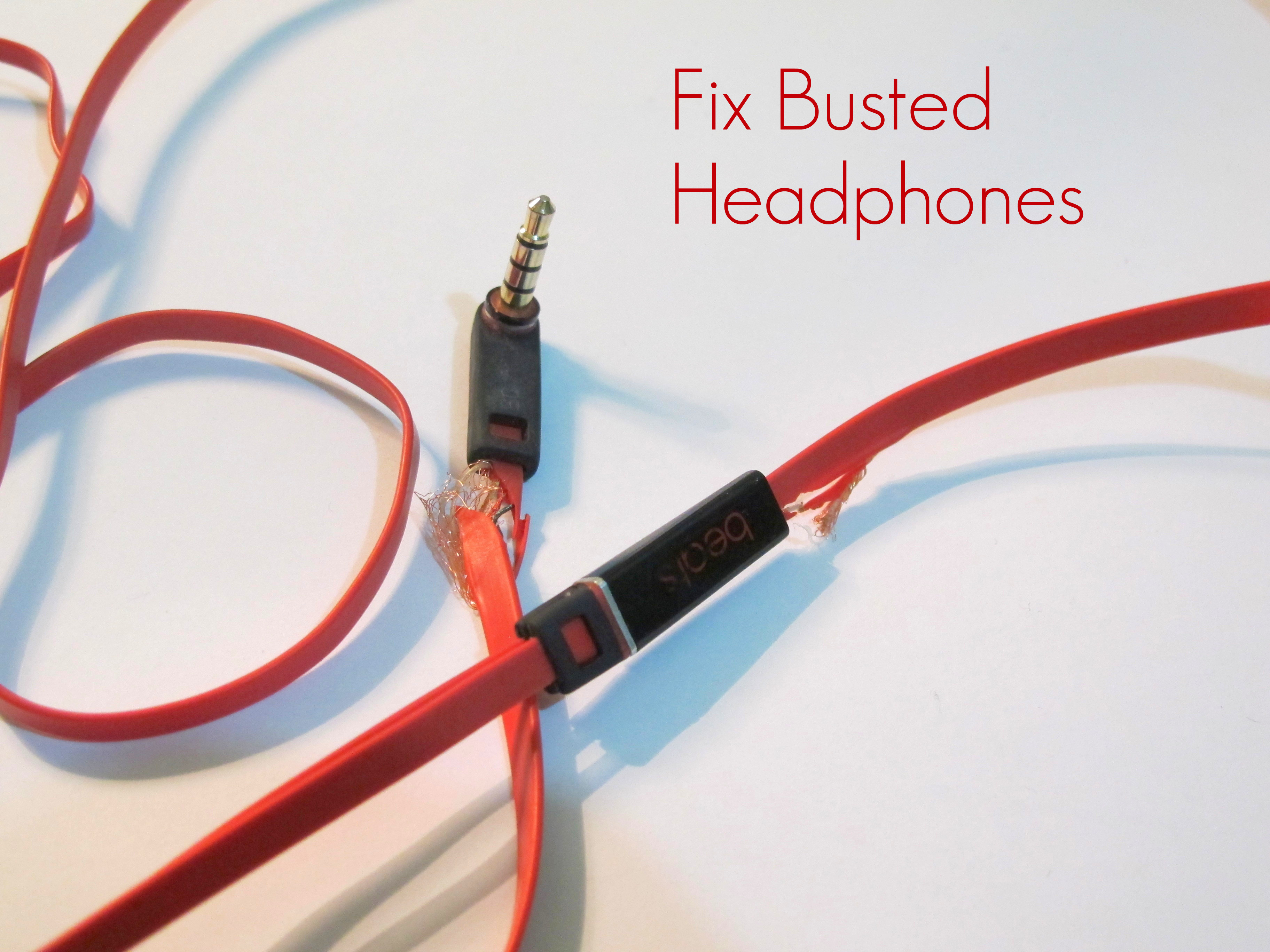 How to Repair Busted Headphones: 8 Steps (with Pictures)