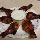 Honey Garlic Chipotle Chicken W/ Cilantro Lime Dip