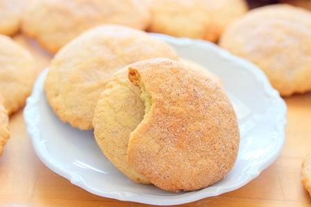 Cinnamon Crusted Sugar Cookies
