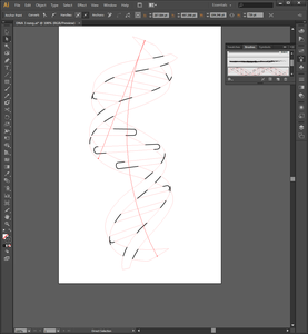 Drawing the Double Helix in Adobe Illustrator (Step 6)