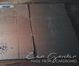 A Cardboard Zen Garden