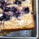 Semi-Healthy Blueberry Cake With Crispy Sugar and Shredded Coconut