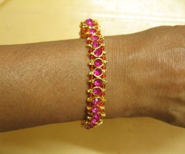 Designer Bracelet With Gold Plated Jewelry Pieces