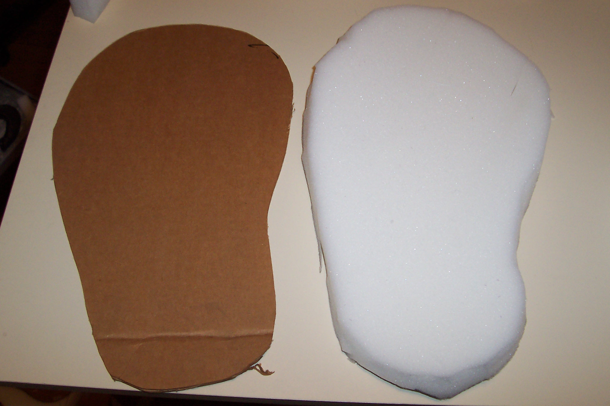 Picture of Cutting Out the Foam Feet