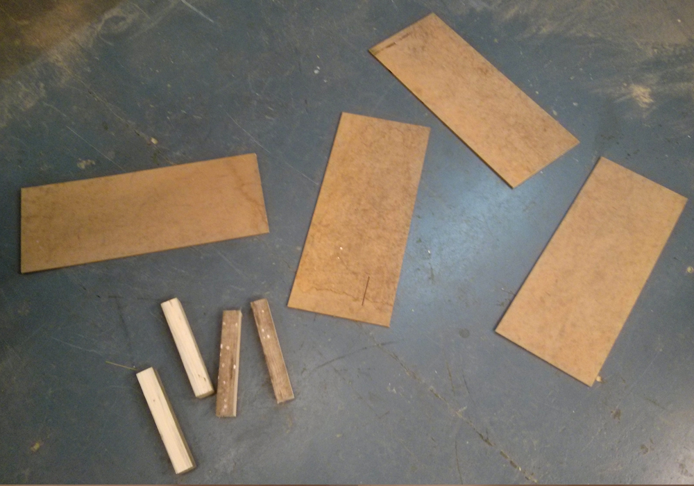 Picture of Preparation of MDF and Wooden Parts.