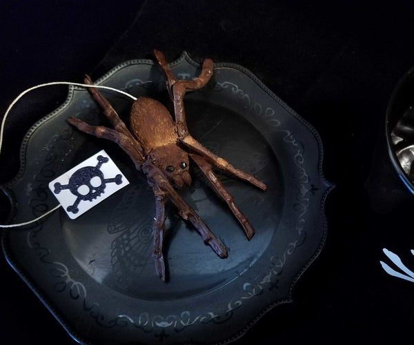 Dark Chocolate Spiders Filled With Marshmallow Eggs
