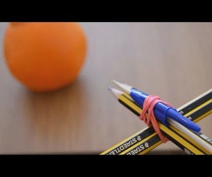 How to Make a Crossbow With 4 Pencils !