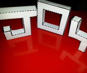 3D Letters in Papercraft (Easy to Make)