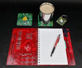 Upcycled Motherboard Notepad Gift Set