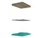 3D print-based molds for glass slumping