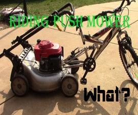 Riding Push Mower