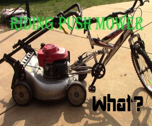 Riding Push Mower