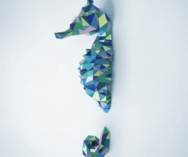 Seahorse Papercraft DIY Project