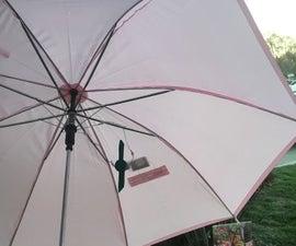 Umbrella With Solar Powered Fan