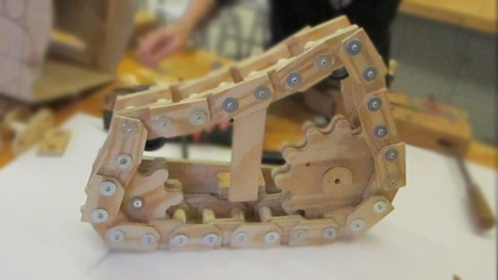 Picture of Wooden Tank Tracks