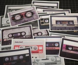 Cassette Tape Stickers
