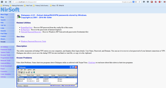 Download Dialupass From Nirsoft