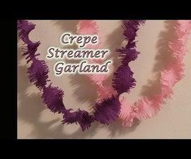 DIY : Crepe Streamer Garland -2 | Paper Craft | Party Decoration