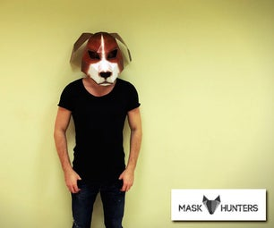 How to make Dog mask from paper
