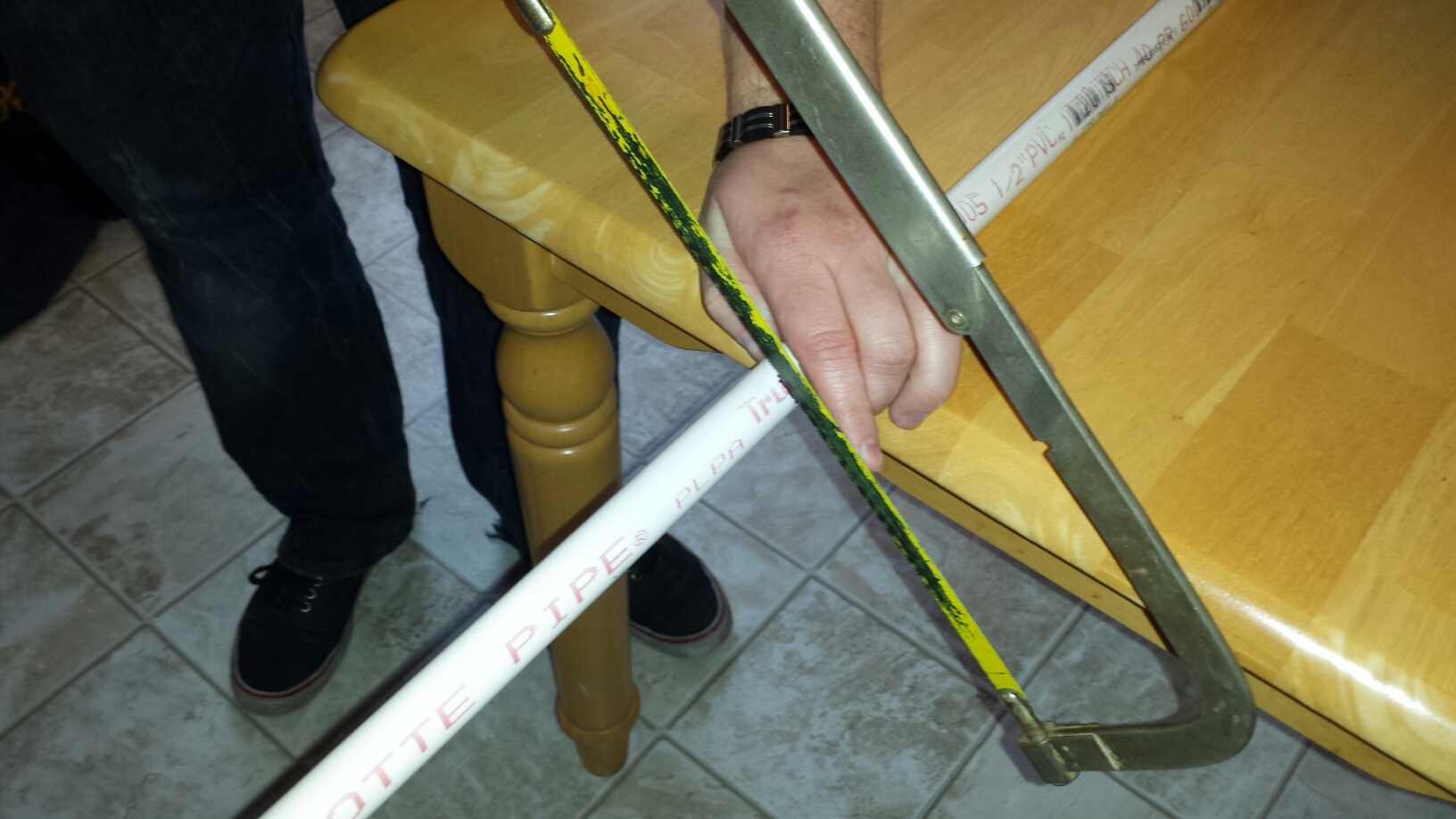 Picture of Step 1: Cut 5-foot Length of PVC