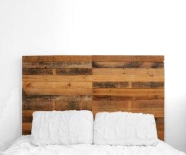 A Pallet Wood Headboard