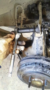 Removing the Old Control Arm.
