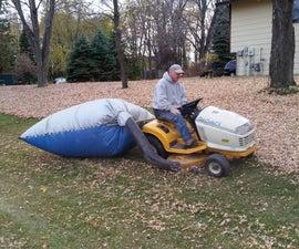 Tarp leaf bagging system
